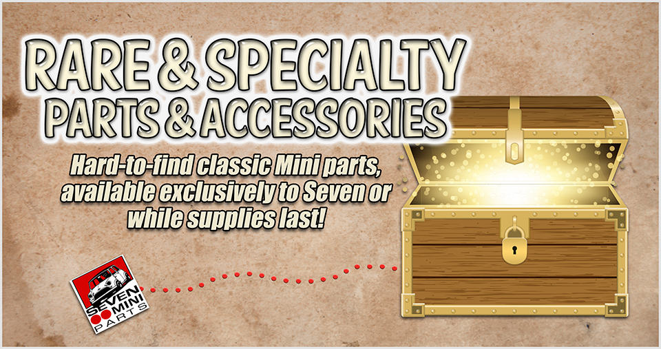 Rare and specialty classic Mini parts and accessories