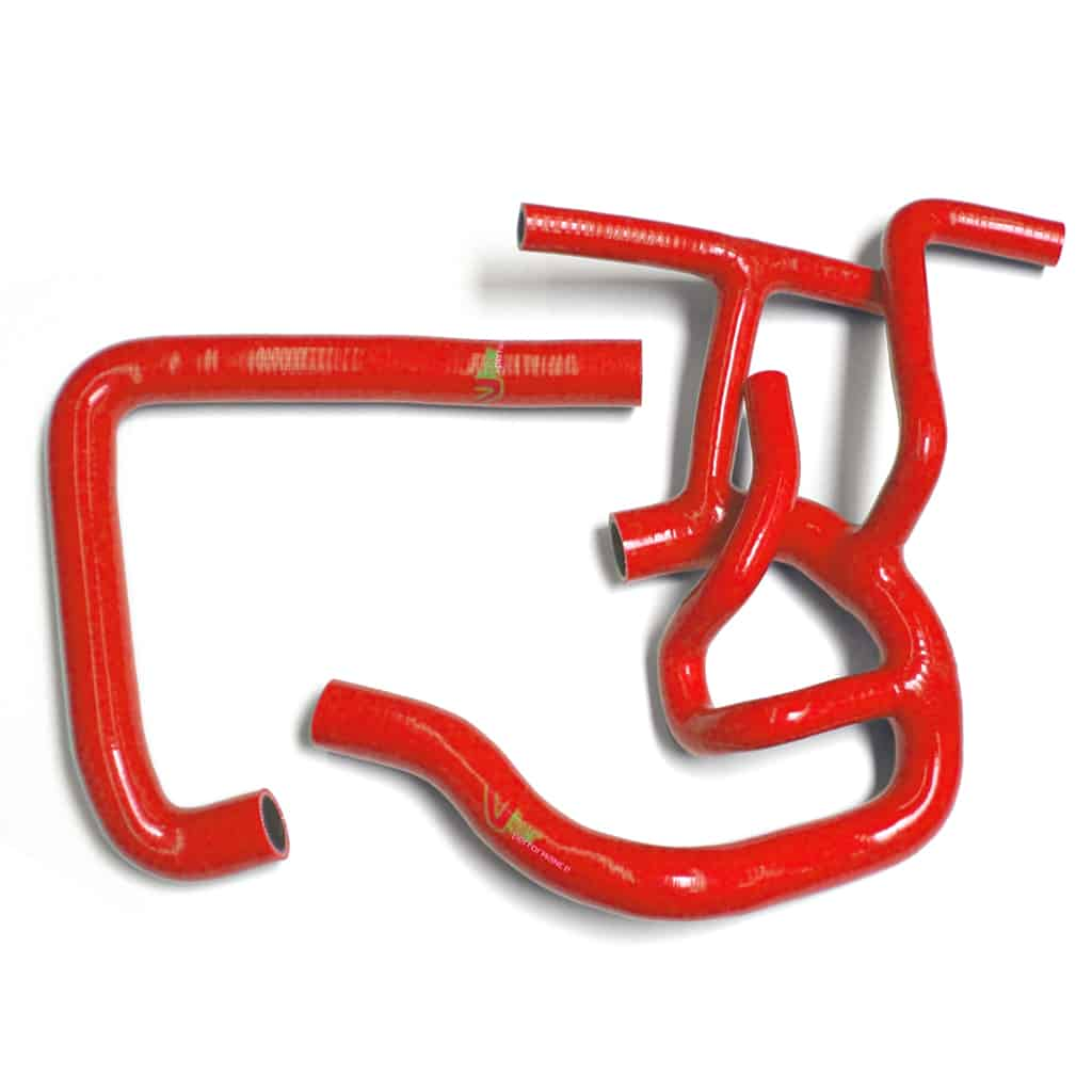 Radiator Hose Kit, MPi, Red Silicone (C-GRH006RED)