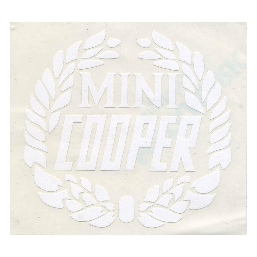 Decal, Mini Cooper Wreath, White (MSA1127)