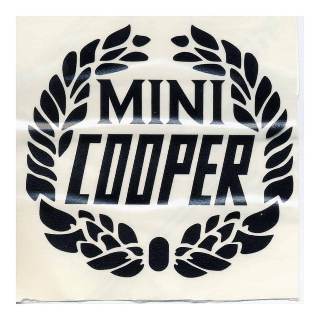 Decal, Mini Cooper Wreath, Black (MSA1128)