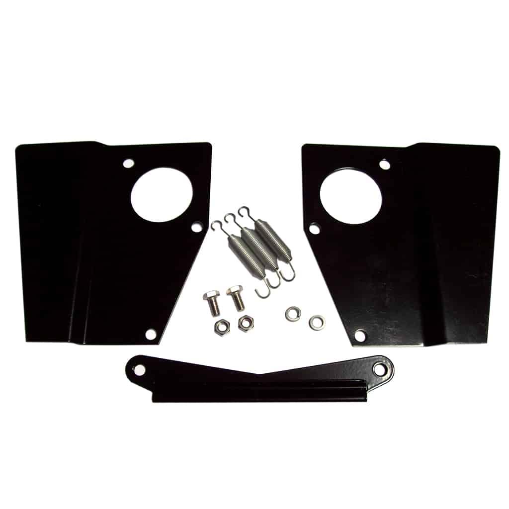 Heat Shield Kit, twin HS4, Black (SIE0122)