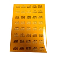 Wiring Harness Label Decals, Lucas, set/5 (SMI0134)