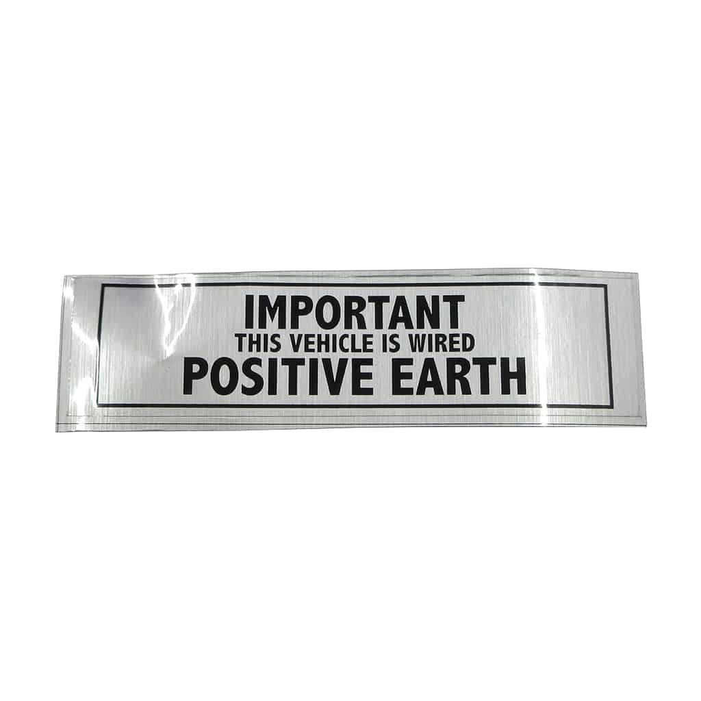 Sticker, Positive Earth (SMI0174)