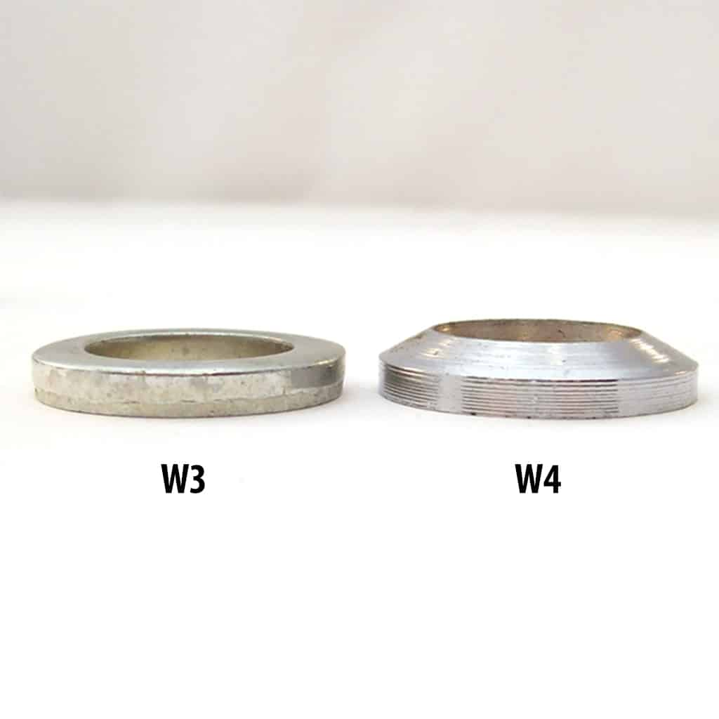 Washer comparison, W3 to W4